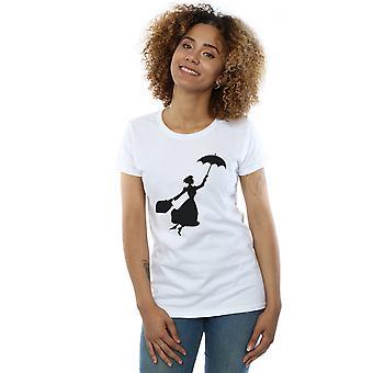 Disney Women's Mary Poppins Flying Silhouette T-Shirt