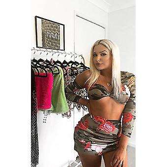 IKRUSH Womens Serena floreale Off spalla gonna Co-ord