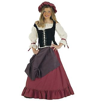 Medieval hostess girl costume Builder maid kids costume
