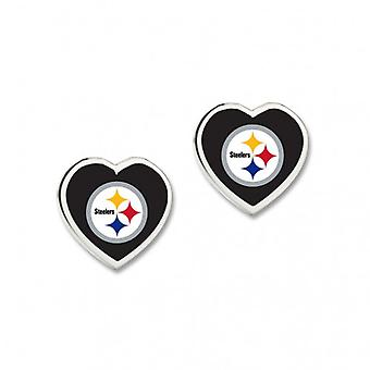 Wincraft ladies 3D heart Stud Earrings - NFL Pittsburgh Steelers