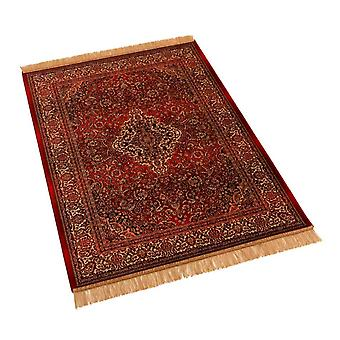 Red Persian Medallion Artificial Faux Silk Effect Rugs 9099/12 100 x 140cm