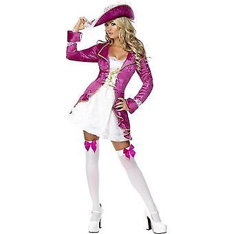Fever Pirate's Treasure Costume, UK Dress 12-14