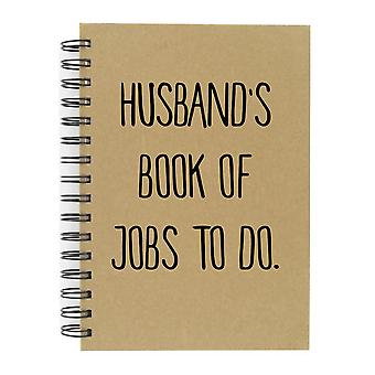 Husband's Book Of Jobs To Do A5 Kraft Notebook