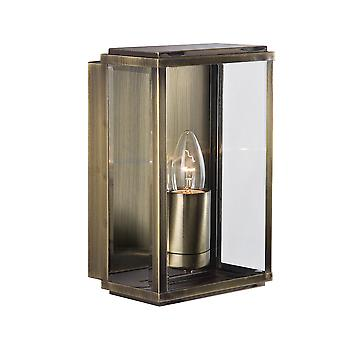 Searchlight 8204AB Outdoor Lighting Antique Brass Finish Glass Lantern