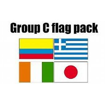 Gruppe C Football World Cup 2014 Flag Pack (5 ft x 3 ft)