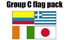 GRUPPE C Football World Cup 2014 flagg Pack (5 ft x 3 ft)