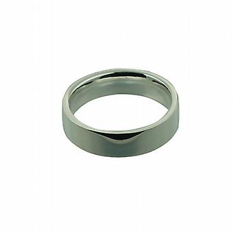 Silver 6mm plain flat Court Wedding Ring Size Z