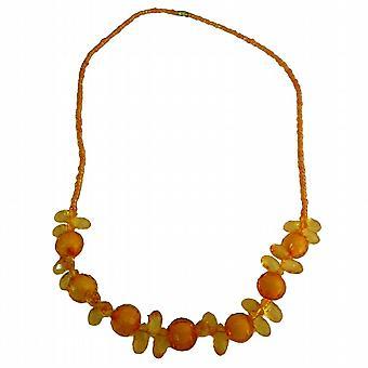 Saffron Orange Beads Small Girls Necklace