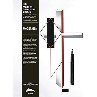 Modernism: Marker Colouring Sheets