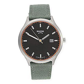Petanque Analog quartz men's watch with leather 3614-01