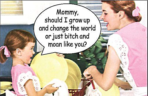 Mommy Should I Grow Up And Change The World.. funny fridge magnet (ep)