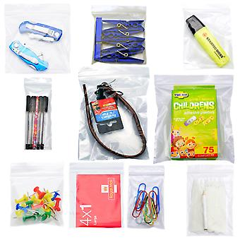 Simply Direct Clear Grip Seal Plastic Poly Press & Seal Bags (GL00 - GL10) - Assorted Sizes & Quantities