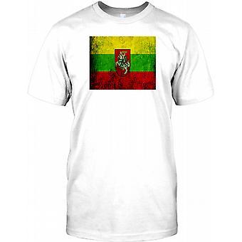 Litauische Grunge Effekt Flag - Litauen Kinder T Shirt