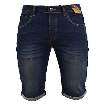 Mens denim shorts loyaliteit en geloof