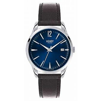 Henry London Knightsbridge Blue Dial - som set på TV HL39-S-0031 Watch