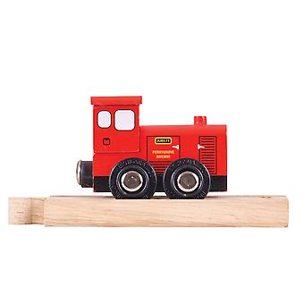 Bigjigs Rail Wooden Perrygrove Jubilee Train with Wood Track