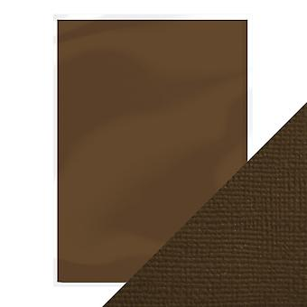 Craft Perfect A4 Weave Textured Card Espresso Brown Tonic Studios