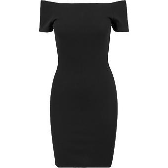 Urban Classics Women's Summer Dress Off Shoulder Rib