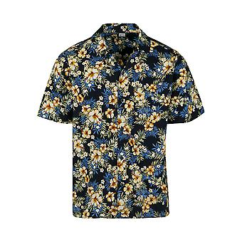 Urban Classics menns kort ermet skjorte mønster Resort skjorte