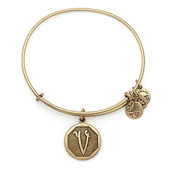 Alex en Ani Initial V Gold Bangle A13EB14VG