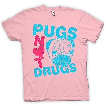 Womens T-shirt-Pugs Drogen nicht lustig