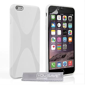 YouSave Accessories iPhone 6 Plus and 6s Plus Silicone Gel XLine Case White