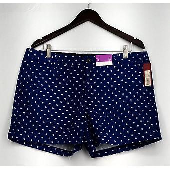 Merona shorts zip front casual polka dot shorts blauw Womens