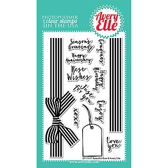 Avery Elle Clear Stamp Set 4 « X 6 »-bel arc AE1537