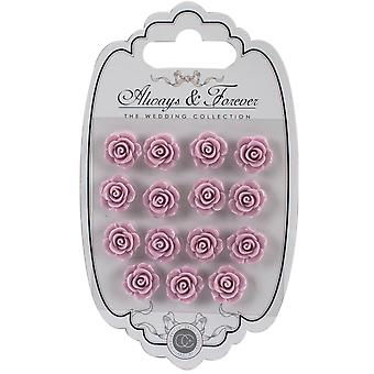 Craft Consortium Always & Forever Resin Flowers 15/Pkg-Lilac AFRFL004