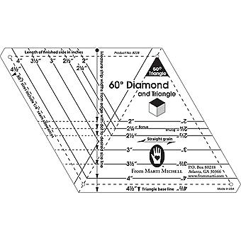 60 Degree Diamond & Triangle One Derful One Patch Templates 8228M