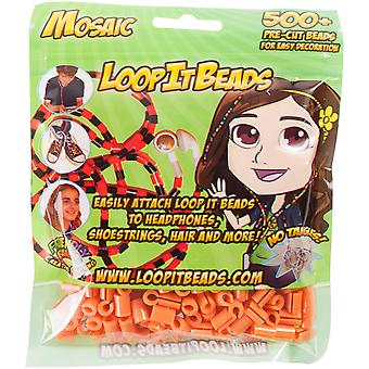 Friendly Bands Loop It Beads 500/Pkg-Honey FBLIB500-HON