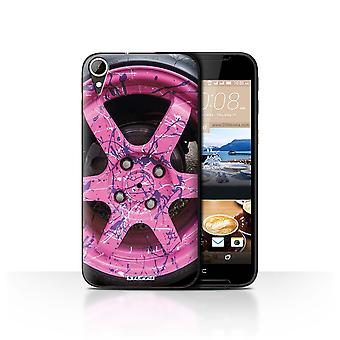 STUFF4 Case/Cover for HTC Desire 830/Pink/Purple/Alloy Wheels