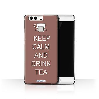 STUFF4 Case/Cover for Huawei P9/Drink Tea/Brown/Keep Calm