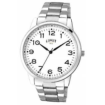 Limit Mens Stainless Steel White Dial 5624 Watch