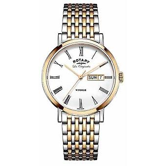 Rotary Gents Two Tone Rose Bracelet GB90155/01 Watch