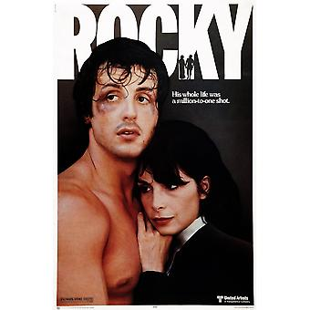 Rocky Us Poster Art From Left Sylvester Stallone Talia Shire 1976 Movie Poster Masterprint