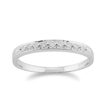 9ct White Gold 0.10ct Diamond Classic Style Eternity Ring