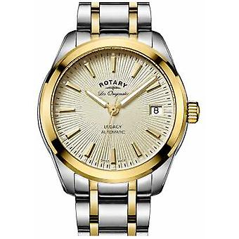 Rotary Womens Legacy Automatic Two Tone Stainless Steel Gold Dial LB90166/03 Watch
