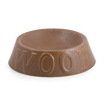 Ceramic Woof Dish Matt Chocolate Large 19.5cm