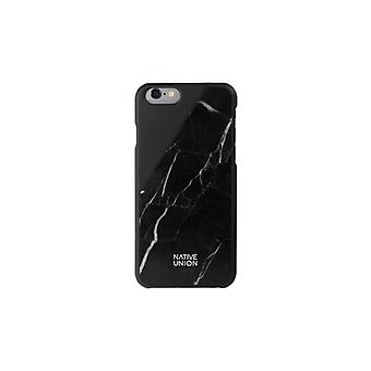 Native Union Clic Marble-Unique covers for iPhone 6/6S with natural marble, Black