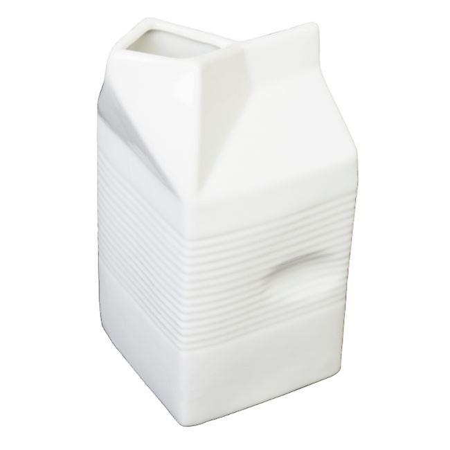 Milk and Cream Serving White Ceramic Easy Grip Jug Pot 14.5cm 0.5l