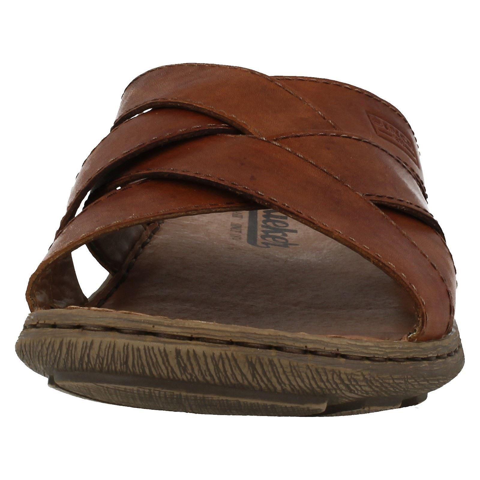 Rieker Mens Slip On Summer Sandals 22098 Herren Sandalen