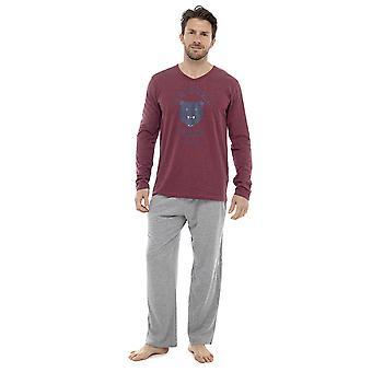Mens Warm Long Sleeve Arizona Bears Design Pyjama nightwear pajama lounge wear