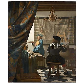 Jan Vermeer - The Art of Painting Poster Print Giclee