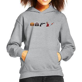 Emoji Pulp Fiction Kid er hætte Sweatshirt