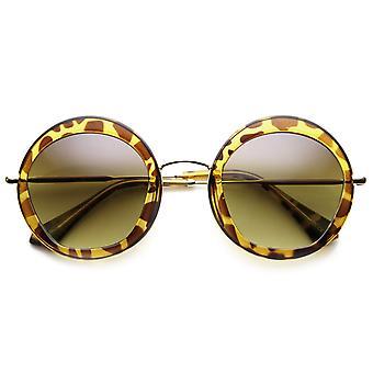 Round Fashion Frame Sunglasses Penta Cut Lens