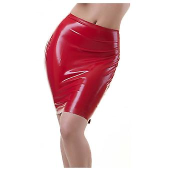 Westward Bound Buckle Back Latex Rubber Skirt.