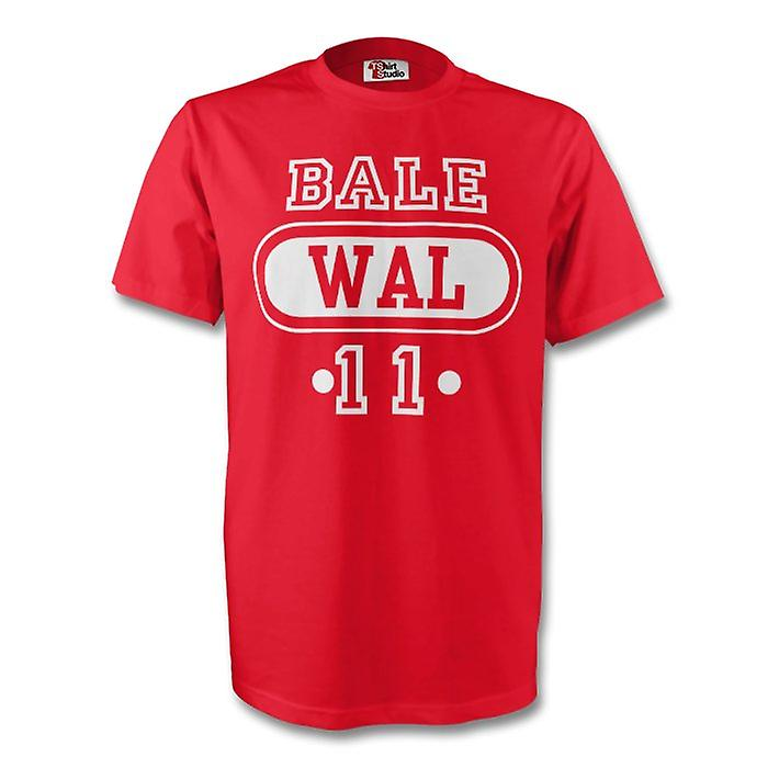Gareth Bale Galles Wal t-shirt (rosso) - bambini