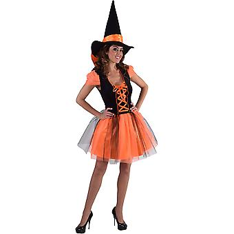 Women costumes  Witch dress Orange