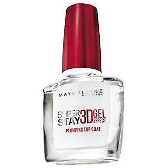 Maybelline 3D Superstay Top Coat Gel 01 Transparent (Woman , Makeup , Nails , Treatments)